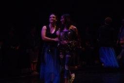 Dancer Samantha Scheller guides an audience member